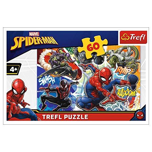 Trefl 17311 Spider-man Puzzle 60, Mehrfarbig
