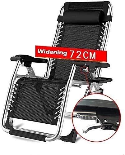 ADHW Sillón reclinable, reclinable para exteriores, con gravedad cero para personas de servicio pesado, sillas reclinables al aire libre, con almohada