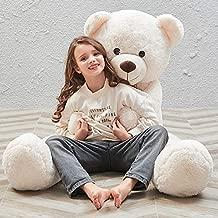 MaoGoLan 55 Inch Giant Teddy Bears Big Cute Plush Teddy Bear Huge Life Size Teddy Bear Large Stuffed Animal Toys for Girlfriend Children White