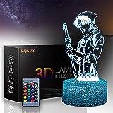 Lámpara 3D Levi Ackerman A de 16 colores, lámpara de decoración de cambio de color, iluminación de mesa de carga USB táctil con control remoto, juguetes de regalo para niños y niñas