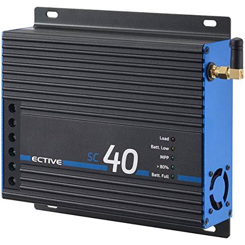 ECTIVE 40A 480Wp/960Wp MPPT Solar-Laderegler für 12V/24V Versorgungsbatterien SC 40 BT mit APP und Bluetooth-Funktion
