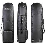 olinkgolf Golf-Reisetasche mit Rädern, Golftasche Reisetasche zum Tragen von Golftaschen, strapazierfähiges 800D Polyester Oxford verschleißfest für den Transport von Golfschlägern