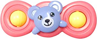Anjetan Suction Cup Toys Plastic Animal Baby Spinning Toy Baby Rattle Toy Rotating Toy for Kids