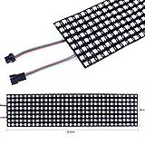 Trihedral-X WS2812B / SK6812 pantalla de matriz de puntos 8 x 32 LED programable a todo color...