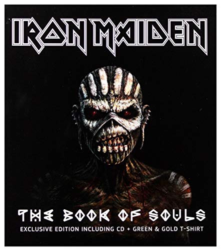Iron Maiden - THE BOOKS OF SOULS (Exclusive esition including cd + green& gold T-shirt)