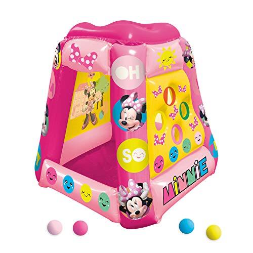 John Tenda da gioco gonfiabile con motivo Disney Minnie Mouse multicolore e 20 palline colorate