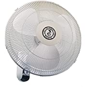 """Global Roots 16"""" Wall-Mount Oscillating Fan, High Airflow"""
