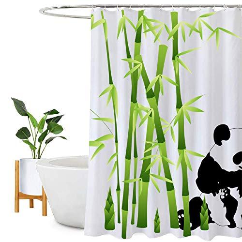 Encozy - Cortina de ducha, impermeable, resistente al moho, lavable, cortina de baño, con 12 ganchos