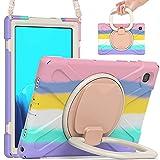 Funda para Samsung Galaxy Tab A7 10,4 2020 para Niños (SM-T500/SM-T505/SM-T507), Prueba de Golpes Funda con Soporte Rotación, Correa de Hombr, para Galaxy Tab A7 10.4 Inch 2020 Tablet (Pink)