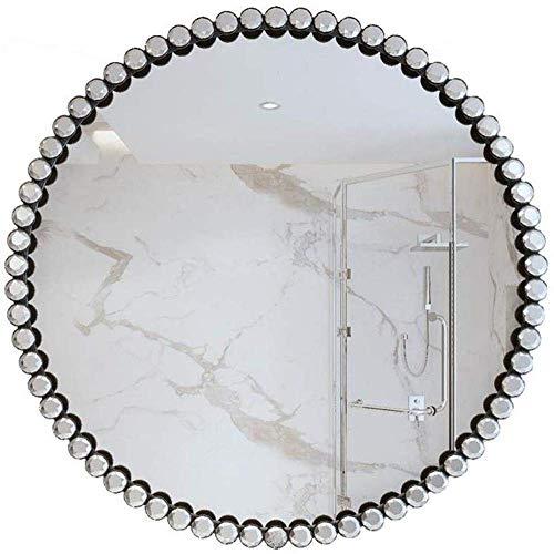 Schminkspiegel, tragbarer Schminkspiegel Eisen Runder Badezimmerspiegel Toilettenspiegel Kosmetikspiegel Wandspiegel Wandspiegel Dekorativer Glasspiegel Einfach Make-up, Rasur und Gesichtspflege