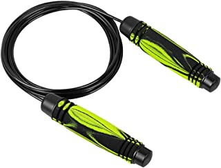 iuchoice Indoor Outdoor Aerobic Exercise Boxing Skipp Jump Rope Adjustable Bearing Speed Fitness Traine Holiday Birthday Gift for Girl (Green)