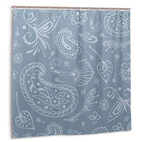 Starodec Duschvorhang, Paisley & orientalische Motive Bulle Badvorhang Set mit Haken 60 x 72 Zoll