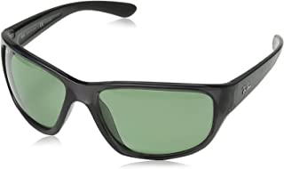 RAY-BAN Men's RB4300 Square Sunglasses, Transparent Grey/Polarized Green-Ar Blue, 63 mm