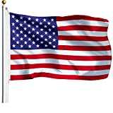 G128 - American USA US Flag 3x5 Ft Polyester Printed Stars Stripes Brass Grommets Quality Polyester American Flag Indoor/Outdoor