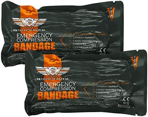 EVERLIT 2 Pack Israeli 6 Inch Emergency Bandage Compression Trauma Pressure Dressing Vacuum product image