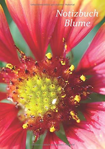 Großformatiges Blumennotizbuch für Mädchen und Frauen.: Ausgefallene Notizbücher oder Klassenhefte mit einer Dekoration aus Landblumen in 96 kleinen A4-Fliesen.