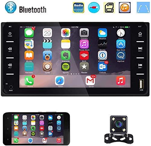 2 Din Car Radio 7 '' Pantalla táctil Bluetooth / FM con USB / AUX-in / Mirror Link + 4 LED Cámara de respaldo para Toyota Corolla