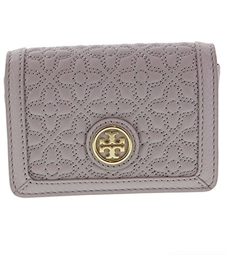 Tory Burch Bryant Foldable Card Case in Quilted Leather, Style No 34032 (Mercury) - http://coolthings.us