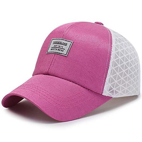 KNJF Soporte de Flores Tamaño Ajustable 8 Colores Unisex Malla camioneras Béisbol Sombrero Estante de exhibición del Titular del jardín (Color : Pink, Size : Free Size)