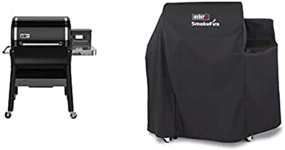 Weber SmokeFire EX4 Wood Fired Pellet Grill (2nd Gen) with Cover