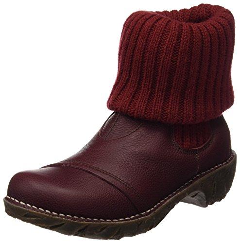 El Naturalista S.A N097 Soft Grain Yggdrasil, Damen Kurzschaft Stiefel, Rot (Rioja), 36 EU