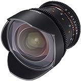 Samyang F1312601101 - Objetivo para vídeo VDSLR para Canon EF (Distancia Focal Fija 14mm, Apertura T3.1-22 ED AS IF UMC II), Negro