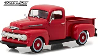 1951 Ford F-1 Pickup Truck, Coral Red Flame - Greenlight 86316 - 1/43 Scale Diecast Model Toy Car