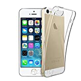 iPhone5 / iPhone5E / iPhone5S / iPhone SE (2016) ケース TPU 透明保護ソフト シリコンケース 薄型 上質TPU クリア、耐衝撃、吸収 擦り傷防止 耐水、防指紋散熱加工の超薄 ケース iPhone5/5E/5S