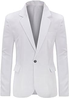 YUNCLOS Men's Slim Fit Casual 1 Button Notched Lapel Blazer Jacket