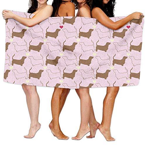 Bichon Frise Puppy Love Pink Pattern Poliéster Toalla de Microfibra Toalla de...