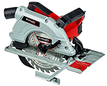 Einhell Sierra circular manual TE-CS 190/1 (1500 W, 5.500 min-1, ajuste sin herramientas, gran estribo de agarre, mesa de sierra de aluminio, bloqueo de husillo, incl. hoja de sierra de metal duro)