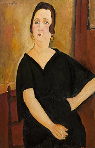 Posterazzi Madame Amedee (Woman With Cigarette) Poster Print by Amedeo Modigliani 1918 Italian Painting Oil On Canvas (Bsloc_2016_6_100), (18 x 24)
