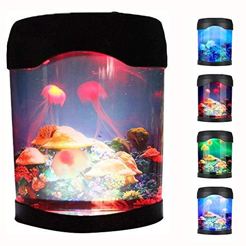 WETRR Quallenbeleuchtung Aquarium Simulation Hintergrund glühen Nachtbeleuchtung Lampe künstliche Qualen Schwimmen Tank Color Changing Mood Lighting Home Dekoration Geburtstagsgeschenk