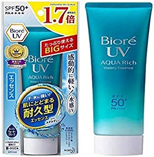 BIORE UV Aqua Rich Watery Essence SPF50 85g -That gives you longer lasting UV protection with its new waterproof and sweatproof formula