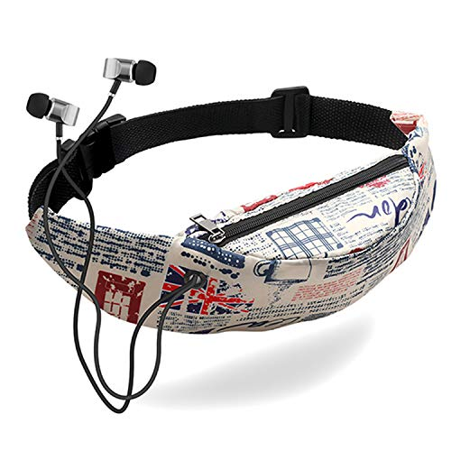 Women Waist bag waterproof Canvas Belt Bags Fanny Pack Sling Bags Mobile Phone Pouch sports bag,K