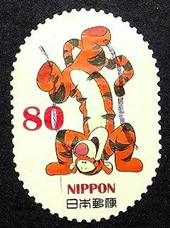 Tigger Winnie The Pooh Cartoons -Handmade Framed Postage Stamp Art 0805
