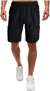 Summer Camo Cargo Shorts Mid Waist Mens Loose Casual Camouflage Pocket Pants