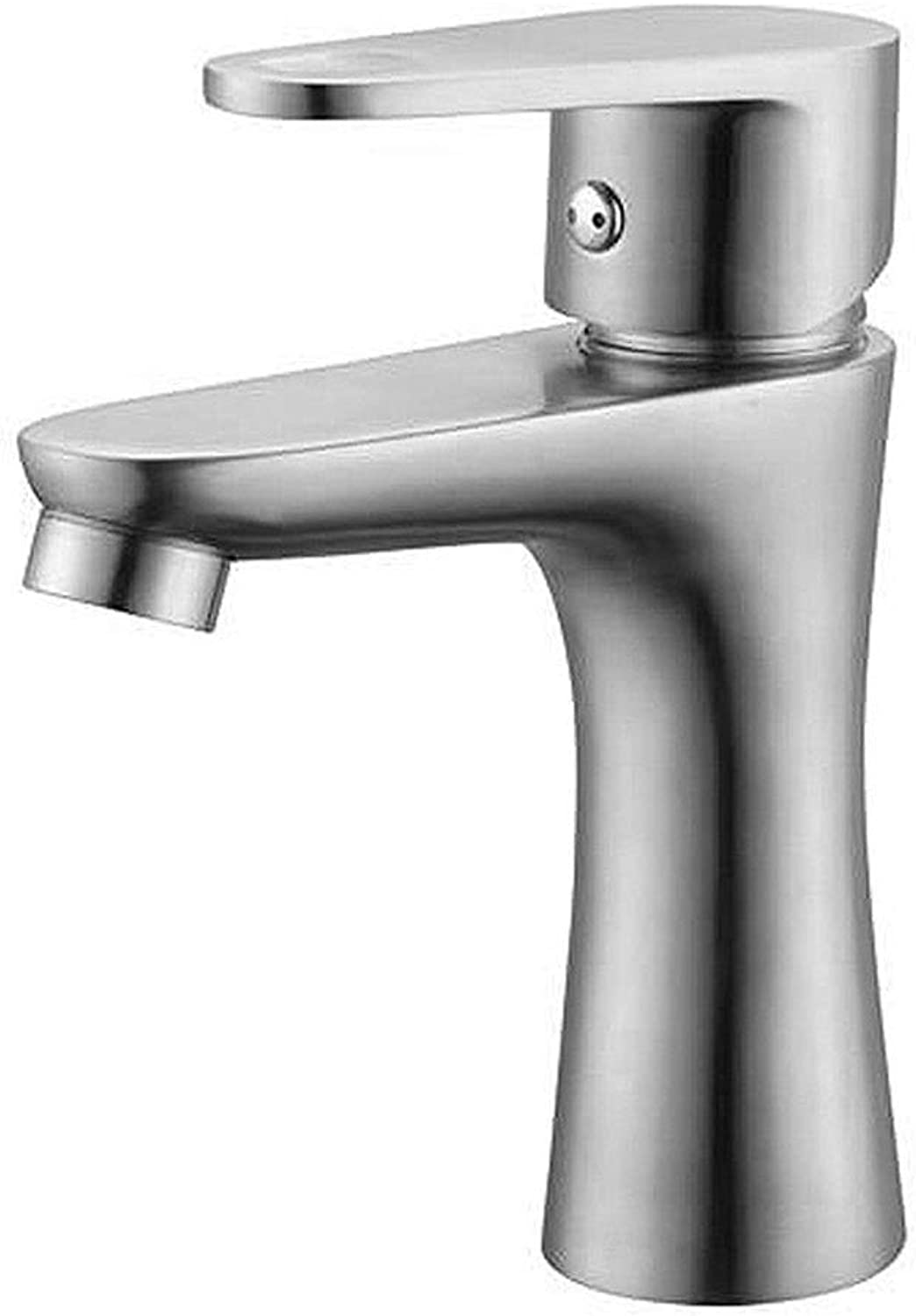 BHDYHM Modern Deck Mounted Nickel Brushed Ceramic Valve Bathroom Sink Faucet,Single Handle One Hole Out Kitchen Sink Faucets