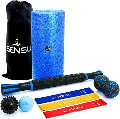 Sensu 9-in-1 Foam Roller Set – Muscle Roller Set Includes...