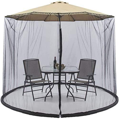 YAMMY Cubierta portátil para mosquitos de jardín con cremallera, diámetro 300 altura 230 cm para sombrilla Gazebo – excluyendo paraguas y (red)