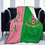 TILLIEE Warm, Lightweight, Super Soft and Comfortable Alpha Kappa Alpha Flannel Blanket, Used for Outdoor Travel and Bed Sofa 80'X60'