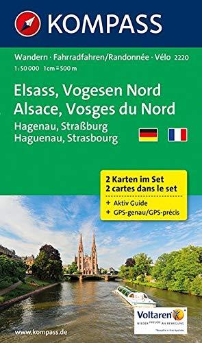 KOMPASS Wanderkarte Elsass - Vogesen Nord - Alsace - Vosges du Nord: Wanderkarten-Set mit Aktiv Guide. GPS-genau. 1:50000 (KOMPASS-Wanderkarten, Band 2220)
