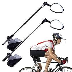 cheap PChero Bicycle Helmet Mirror, 360 Degree Adjustable Bicycle Helmet Rearview Mirror