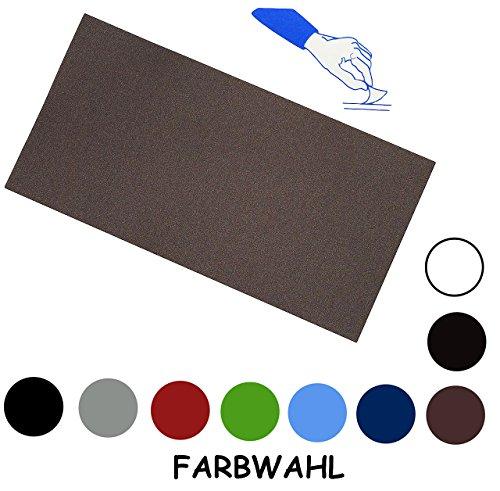 alles-meine.de GmbH Selbstklebender Reparatur Aufkleber Flicken - Nylon - schwarz - wasserabweisend - für Bekleidung Regenartikel / ideal für Leder Sofa - Regenbekleidung - Repar..