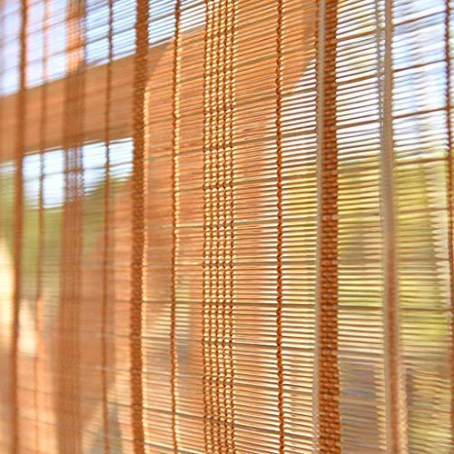 Persianas enrollables de bambú al Aire Libre Persianas Interiores/Exteriores, Patio Exterior Gazebo Porche Carport Persianas Protectoras solares (Tamaño: 105 × 160 cm)