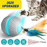 Ventvinal - Juguete para gatos, bola interactiva eléctrica, 2 modos de movimiento, bola de gato con carga USB de la luz LED, bola de inteligencia para gatos, para mascotas, juguete para gatos