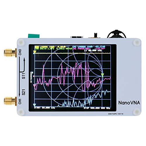 KKmoon Vector Network Analyzer, Portable Handheld Vector Network Analyzer 50KHz-900MHz Digital Display Touching Screen Shortwave MF HF VHF UHF Antenna Analyzer Standing Wave