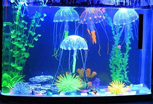 AIUIN 6 stuks Jellyfish aquarium decoratie kunstmatige kwallen voor aquarium decoratie vistank aquarium ornament glowing-effect vistank ornament