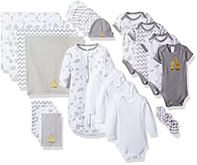 Spasilk Essential Newborn Baby Layette Set, Grey Celestial, 0-6 Months from Spasilk