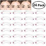 NUOLUX 24Pcs sopracciglia dello stencil set occhio Brow Shaping Template Stencils kit per trucco